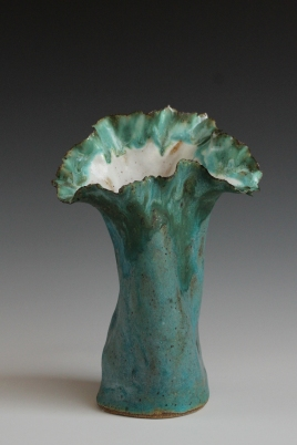 Turquiose Patina Vase 6in